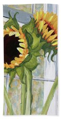 Indoor Sunflowers II Bath Towel
