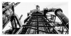 Industrial Age - Bethlehem Steel In Black And White Bath Towel by Bill Cannon