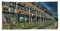 Industrial Archeology Railway Silos - Archeologia Industriale Silos Ferrovia Hand Towel