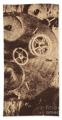 Industrial Gears Bath Towel