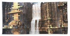 Industrial Waterworks Bath Towel by Hal Tenny