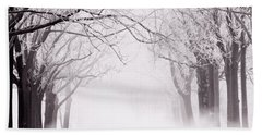 Infinity - Trees Covered With Hoar Frost On A Snowy Winter Day Hand Towel