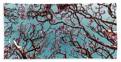 Infrared Frangipani Tree Bath Towel