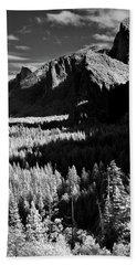 Infrared Yosemite Valley Hand Towel