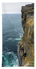 Hand Towel featuring the photograph Inishmore Cliff And Dun Aengus  by RicardMN Photography