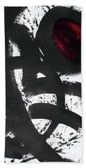 Ink On Paper Rose #2 Vertical Ink Landscape Original Fine Art Ink On Paper Hand Towel
