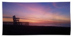 Inlet Beach At Dawn Hand Towel by Robert Banach