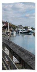 Inlet Fishing Fleet Bath Towel