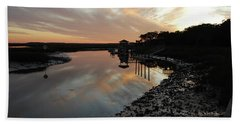 Inlet Sunset Hand Towel by Gordon Mooneyhan