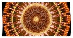 Inner Star Mandala Hand Towel by Wernher Krutein