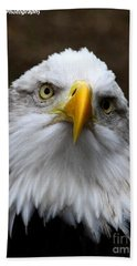 Inquisitive Eagle Bath Towel