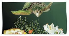 Inquisitive Turtle Bath Towel