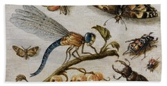 Insects, Currants And Butterfly Hand Towel