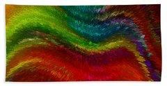 Inside A Rainbow Hand Towel by Stuart Turnbull