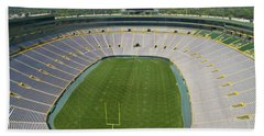 Bath Towel featuring the photograph Inside Lambeau Field by Joel Witmeyer