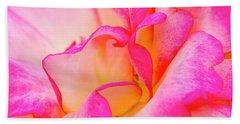 Inside Rose Petal Curves Hand Towel