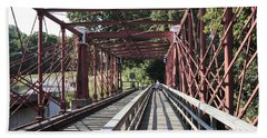 Inside The Bollman Truss Bridge At Savage Maryland Hand Towel