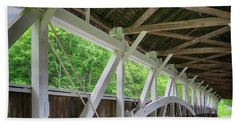 Inside The Covered Bridge Hand Towel