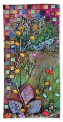 Inside The Garden Wall Hand Towel by Donna Blackhall