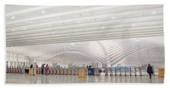 Inside The Oculus - New York City's Financial District Hand Towel