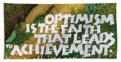 Inspirational Saying Optimism Hand Towel