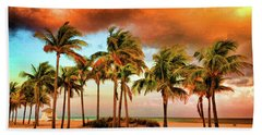 Crandon Park Beach Hand Towel