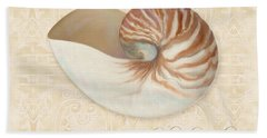 Inspired Coast Iv - Chambered Nautilus, Nautilus Pompilius Hand Towel by Audrey Jeanne Roberts