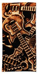 Instrumental Abstract Hand Towel