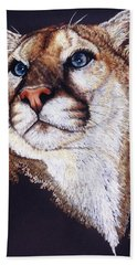 Bath Towel featuring the drawing Intense by Barbara Keith
