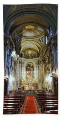 Interior View Of Santi Vincenzo E Anastasio A Fontana Di Trevi In Rome Italy Hand Towel