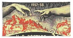 International Geophysical Year Stamp Hand Towel