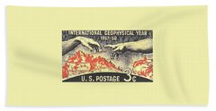 International Geophysical Year Stamp Bath Towel
