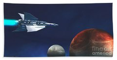 Interplanetary Travel Bath Towel