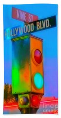 Intersection Of Hollywood And Vine Hand Towel