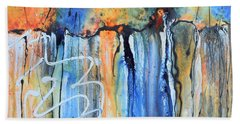 Into The Earth Hand Towel by Nancy Jolley