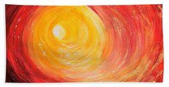 Bath Towel featuring the painting Into The Light by Teresa Wegrzyn