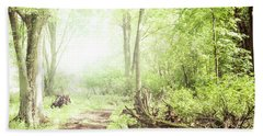 Bath Towel featuring the photograph Into The Woods by Joel Witmeyer