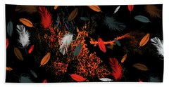 Bath Towel featuring the mixed media Intrusion Of The Nest by Lesa Fine