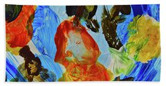Hand Towel featuring the painting Intuitive Painting  215 by Joan Reese