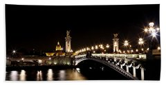 Hand Towel featuring the photograph Invalides At Night 1 by Andrew Fare