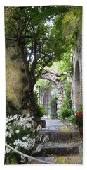 Inviting Courtyard Bath Towel by Carla Parris