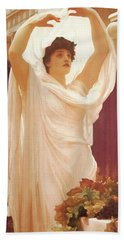 Invocation Bath Towel by Frederick Lord Leighton