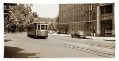 Inwood Trolley  Hand Towel by Cole Thompson