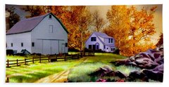 Iowa Farm Hand Towel by Ron Chambers