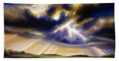 Iowa Storms Hand Towel by James Christopher Hill