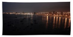 Iquique Harbor Chile Hand Towel