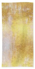Iridescent Abstract Non Objective Golden Painting Hand Towel
