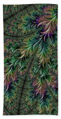 Iridescent Feathers Hand Towel