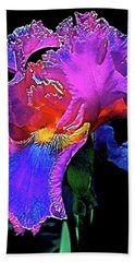 Hand Towel featuring the photograph Iris 3 by Pamela Cooper