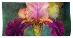 Iris Abstract  Hand Towel